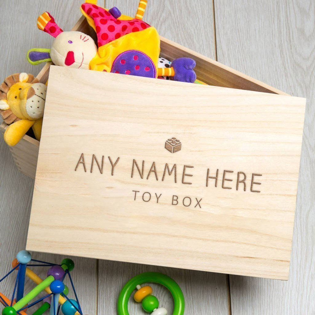 1st Birthday Large Toy Box Personalized Kids Toddler Boy  Girl Gift Wood Toy Box Baby Shower Christmas Gift Reclaimed Wood Furniture