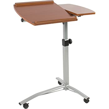 Amazon Com Unicoo Adjustable Overbed Table Laptop Cart
