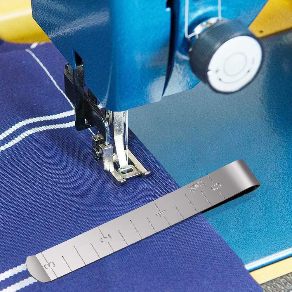HONEYSEW 753801004 prensatelas deslizante para máquina de coser Janome multifunción con 3 clips de dobladillo de tela de acero inoxidable: Amazon.es: Juguetes y juegos