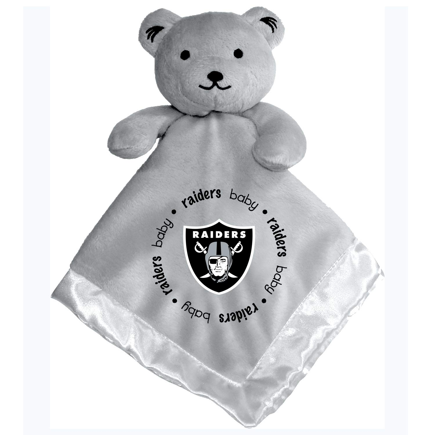 Baby Fanatic NFL Legacy Infant Security Bear Blanket 14 X 14 Oakland Raiders Gray OAR721