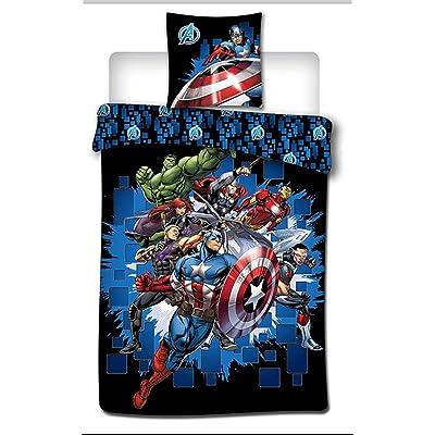 Marvel Avengers Kids Duvet Cover and Pillow case Set 100% Polyester: Home & Kitchen