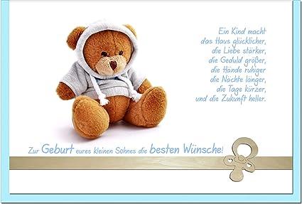 metALUm Premium - Tarjeta de felicitación de nacimiento de bebé ...