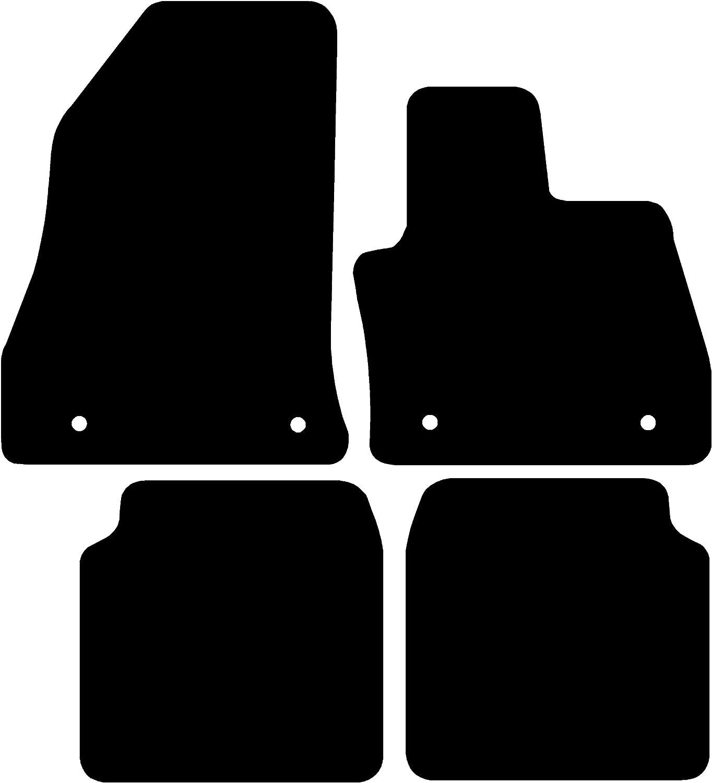 Black with Black Trim 2012- Connected Essentials CEM300 Car Mat Set for A Class//CLA 3 mm Rubber