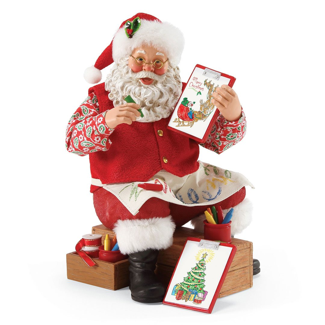 image regarding Santa Claus Printable Pictures identify Division 56 Probable Desires Santa Claus \u201cColor Me Jolly\u201d Clothtique Xmas Figurine