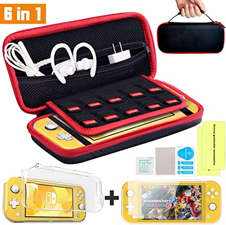 Th-some Kit de Accesorios 6 en 1 para Nintendo Switch Lite, Funda ...