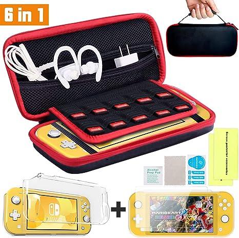 Th-some Kit de Accesorios 6 en 1 para Nintendo Switch Lite, Funda Protectora para Interruptor Nintendo Switch Lite, Cubierta Transparente para Interruptor, Protector de Pantalla: Amazon.es: Videojuegos