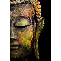 PRINTELLIGENT God Buddha 300 GSM Paper Poster (Multicolour)