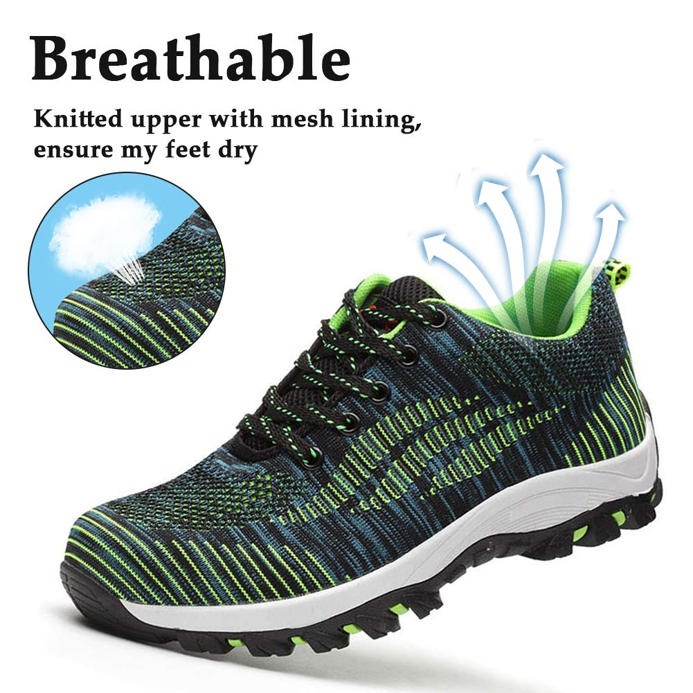 aa48fbcf23dd4 SITAILE Industrial Steel Toe Shoes for Women and Men Slip Resistant Safety  Shoes Puncture Proof Work Sneaker Shoes