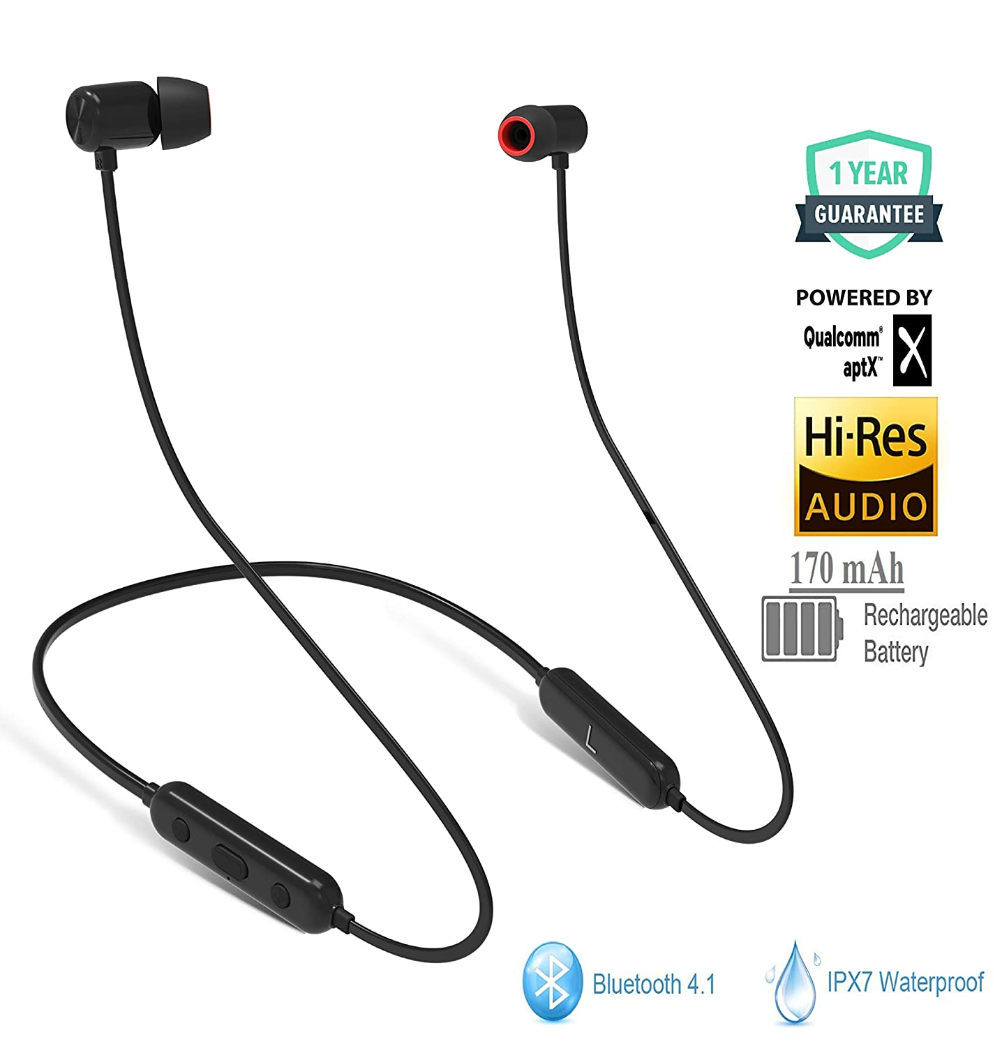 Wearfit Stroke Flex Bluetooth 4.1 in Ear Wireless IPX7