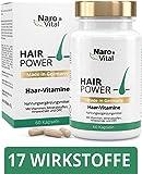 Haar-Vitamine - Für gesunde Haare, Haut und Nägel - Hochdosiert 725 mg - Mit Biotin, Zink, Selen, Hirse-Extrakt, OPC & Mehr - 60 vegane Kapseln - gesunder Haarwuchs & Bartwuchs - NaroVital®