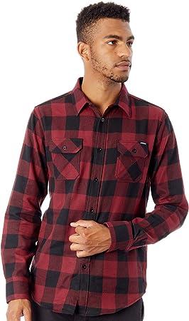 Santa Cruz Camisa de Manga Larga Derby Blood-Negro (S, Rojo)