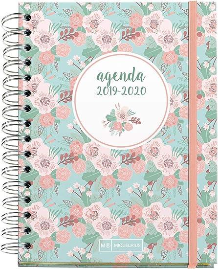 Miquelrius Agenda escolar 2019 2020 Floral Semana Vista Español ...
