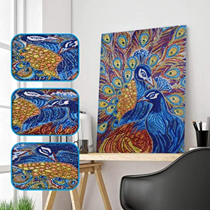 DIY 5D Diamond Painting Kits Full Drill Round Crystal Rhinestone Embroidery Pictures Arts Craft for Home Wall Decor Gift ColorCat A 30X40CM