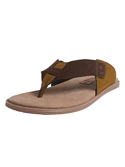 dc17bd989ea abof Men Dark Brown Flip Flops  Amazon.in  Shoes   Handbags