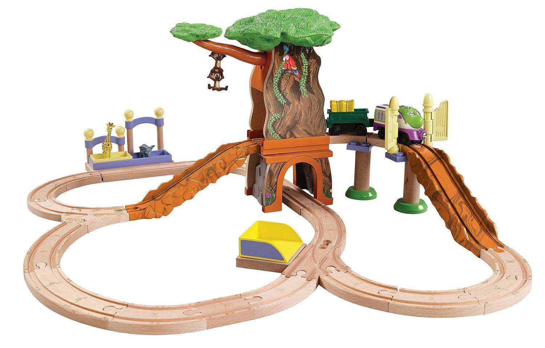 Amazon.com: Chuggington Wooden Railway Koko\'s Safari Set: Toys & Games