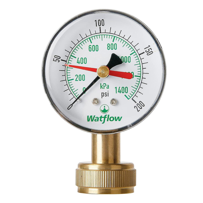 Watflow Water Pressure Test Gauge, Garden Hose Pressure Test Gauge, 2-1/2