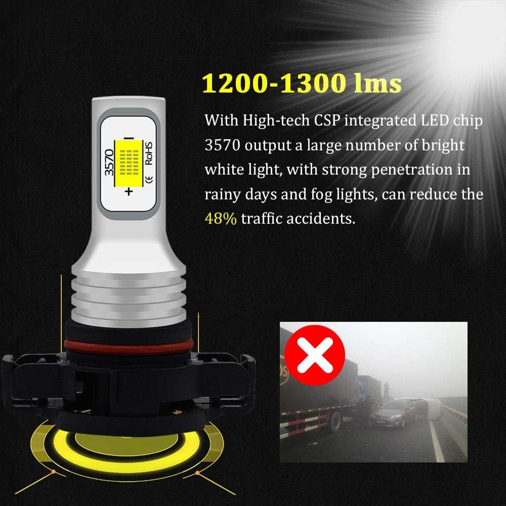 BMTxms Canbus H1 LED Bulb Fog Lights Auto Fog Light LED Fog Bulb Foglight DRL Light Led Daytime Running Lights 2Pcs H1 2SMD, White