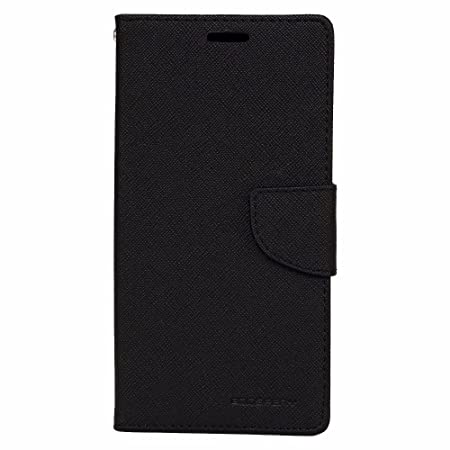 Avzax Leather Flip Case Cover with Magnetic Closure for Micromax Canvas Nitro 4G E455  Black  Mobile Phone Cases   Covers