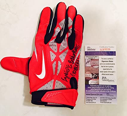 80d3a29b84f Ezekiel Elliott Autographed Signed Game Used Ohio State Buckeyes Nike Glove  Memorabilia - JSA Authentic at Amazon's Sports Collectibles Store
