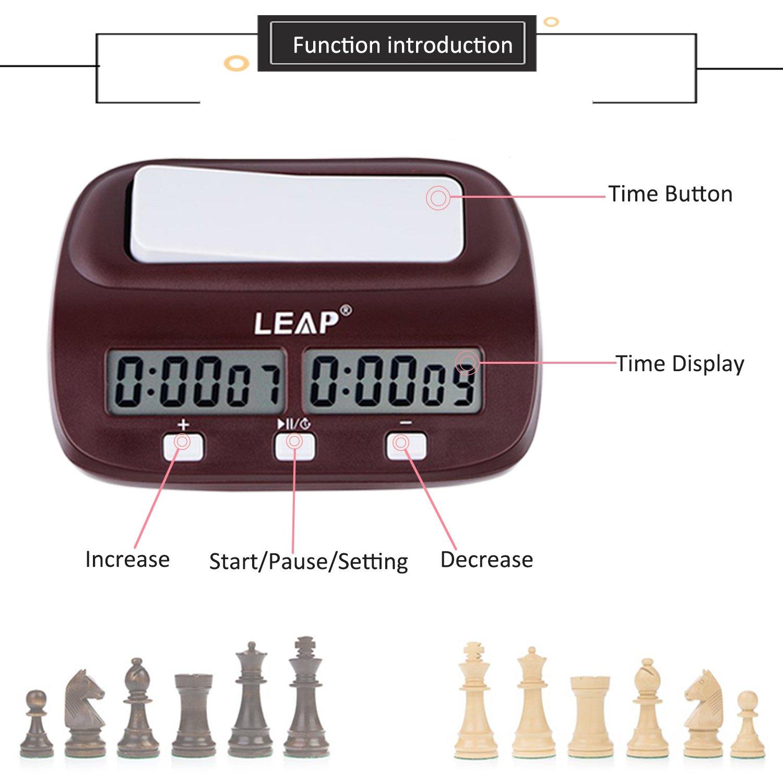 lingye Reloj de ajedrez, Temporizador Profesional de ajedrez Pantalla de precisión Digital de Alta definición, Certificación Fide, Compra Disponible (Chess ...