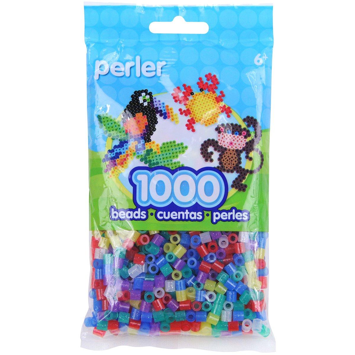 Canutillos Hama Beads 1000 Unidades Multicolor Glitter