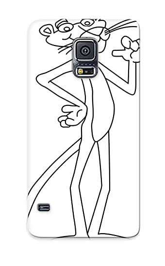 Amazon.com: Galaxy S5 Case Cover Pink Panther Coloring Page And Post ...