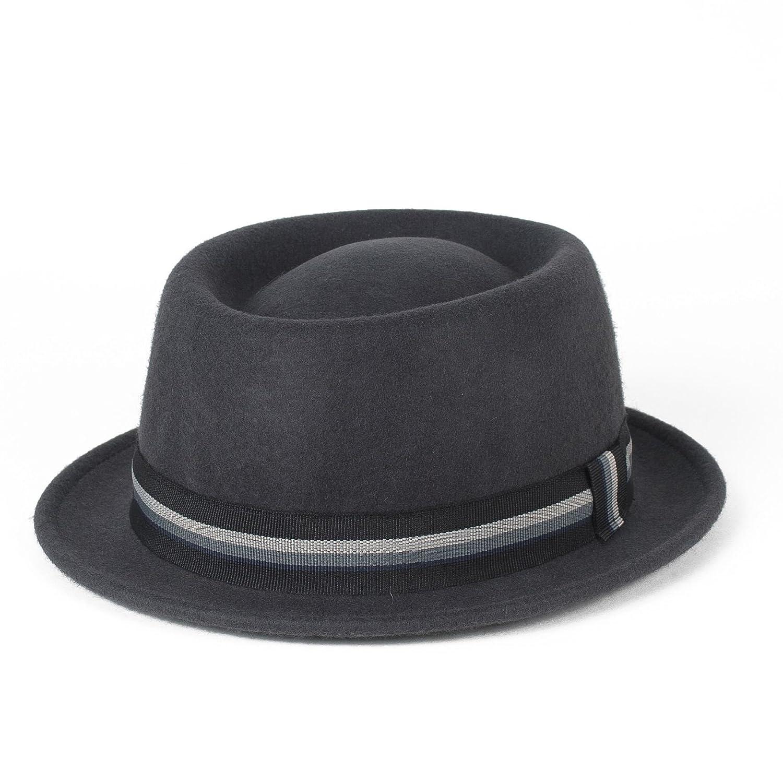 CappelloPork Pie 100% Lana, Impermeabile, Pieghevole, Fatto a Mano in Italia Hat To Socks