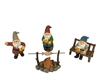 Nains joyeux compagnons de taverne ! - Un ensemble de 5 pièces de nains de  jardin pour le jardin miniature enchanté par GlitZGlam