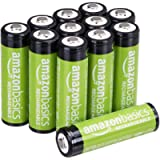 Amazon Basics 12-Pack AA Rechargeable Batteries, 2000mAh, Pre-Charged