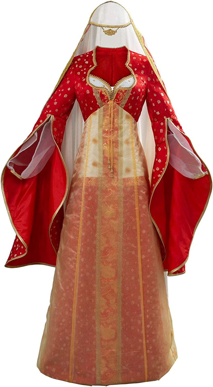 Amazon Com Fengstore Women Jasmine Princess Maid Daria Costume