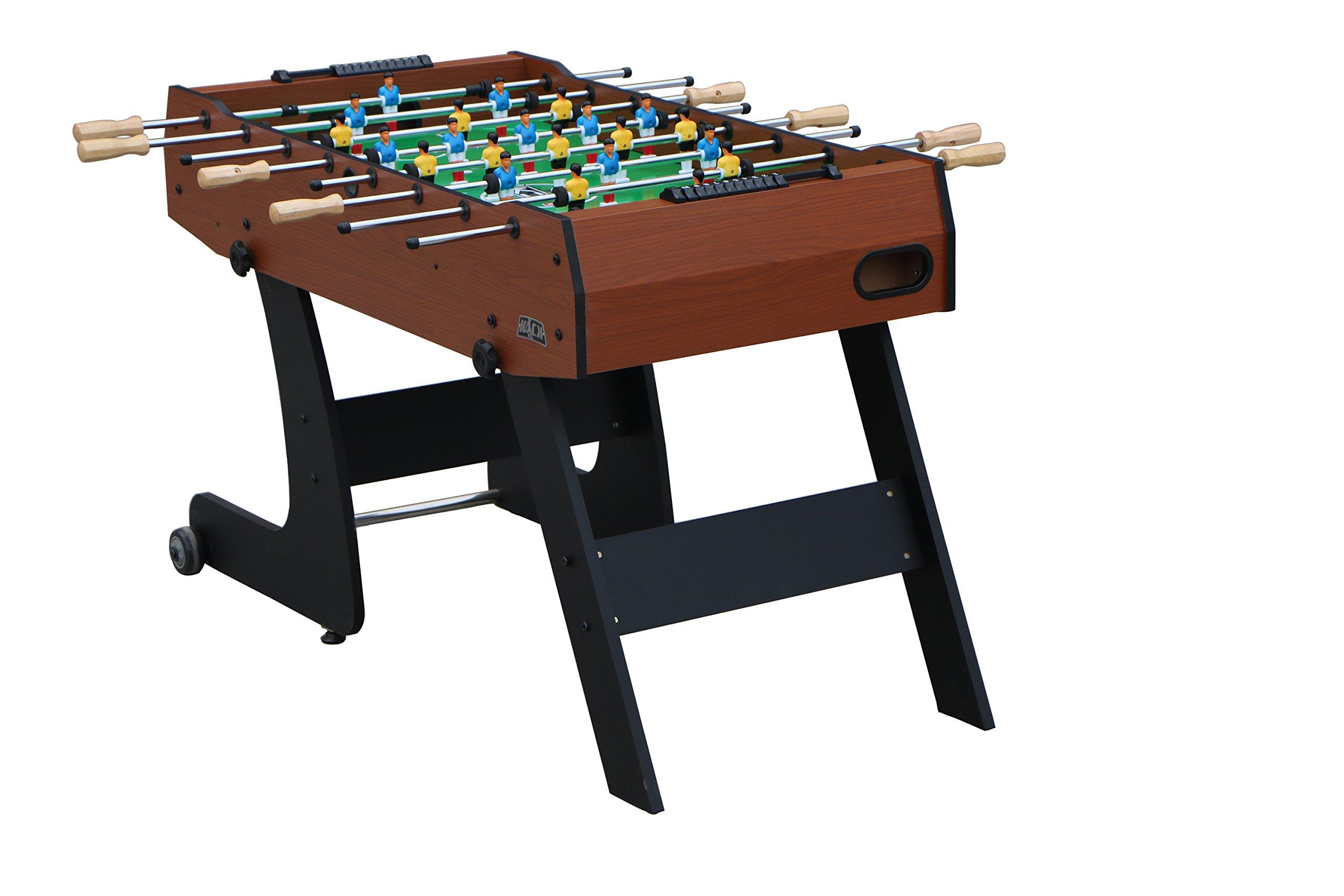 KICK Monarch 48'' in Folding Foosball Table (Brown) by KICK