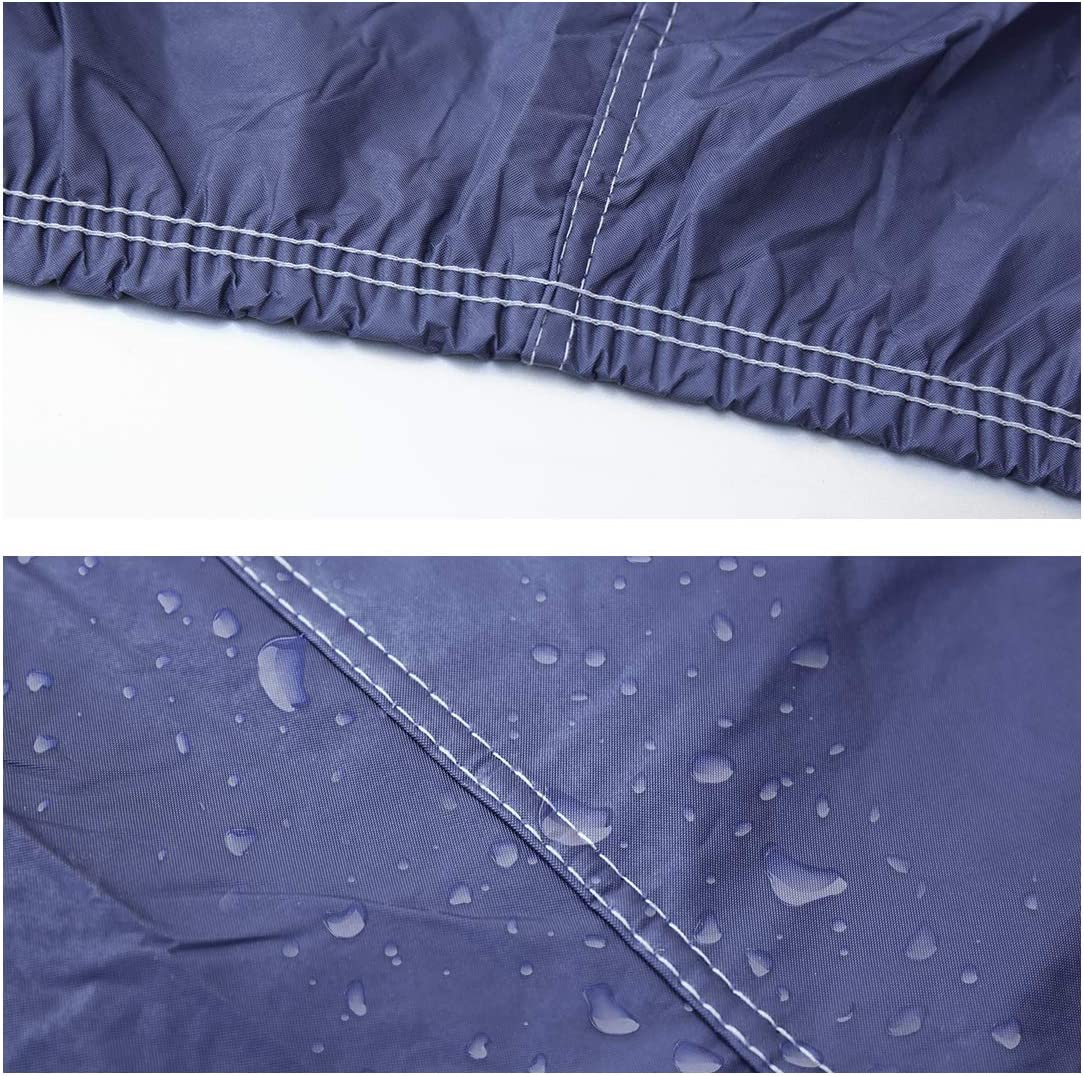 uxcell 2XXL Blue Car Cover Outdoor Weather Waterproof Breathable Scratch Rain Snow Heat Resistant 480 x 190 x 180cm