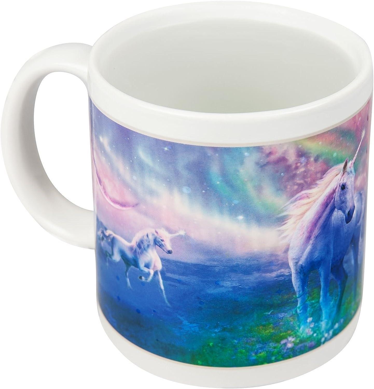 Heat colour changing thermal effect unicorn mug