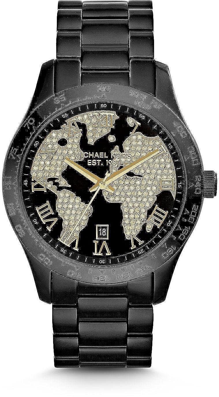 7a71c12cc95a Amazon.com  Michael Kors Layton World Atlas Pave Dial SS Quartz Ladies Watch  MK6091  Michael Kors  Watches