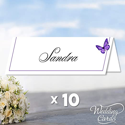 10 tarjetas de mesa para boda o fiesta, personalizables, diseño ...