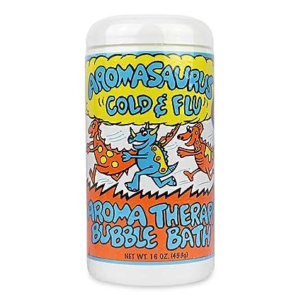 Aromasaurus resfriado y la gripe, la terapia del aroma Baño de espuma - Abra Terapéutica