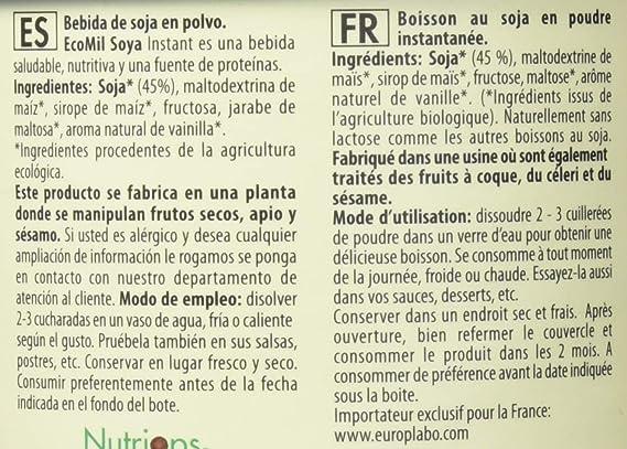 EcoMil - Leche de Soja calcio en polvo EcoMil, 400g: Amazon.es: Alimentación y bebidas