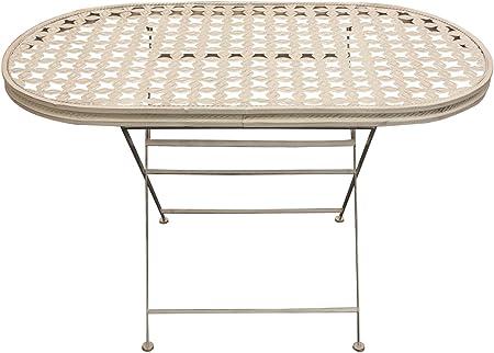 Woodside - Table de jardin - ovale/pliante - pour les patios ...