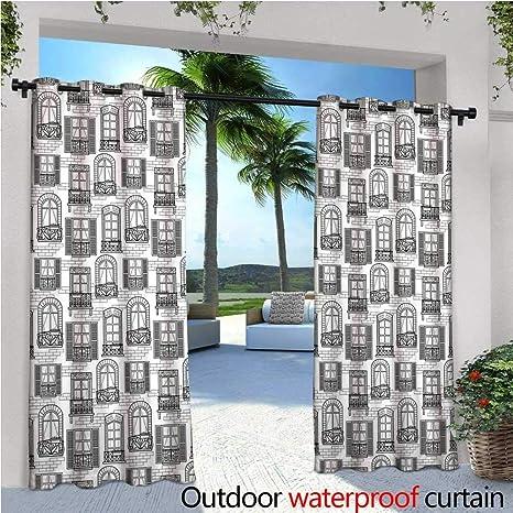 Amazon.com : cobeDecor Geometric Balcony Curtains Apartment ...