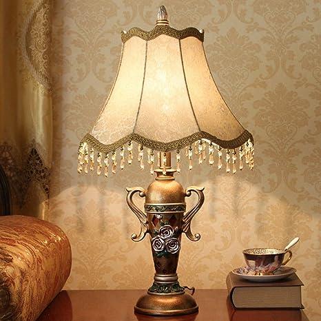 lámpara de mesa de dormitorio pastoral/Living lámpara de ...