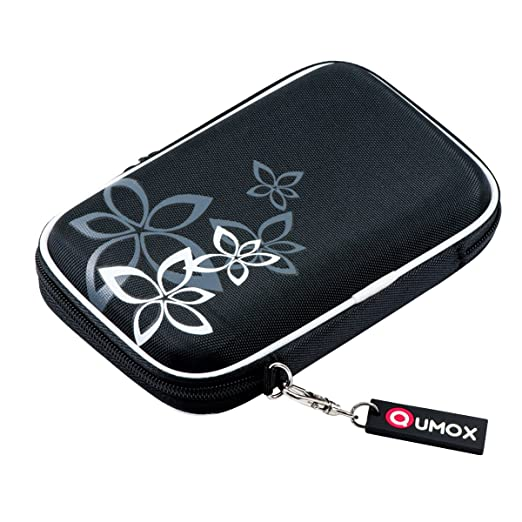 """1345 opinioni per QUMOX Nero (fiore) Custodia rigida da 2,5 """"HDD Borsa per il caso Portable Drive"""