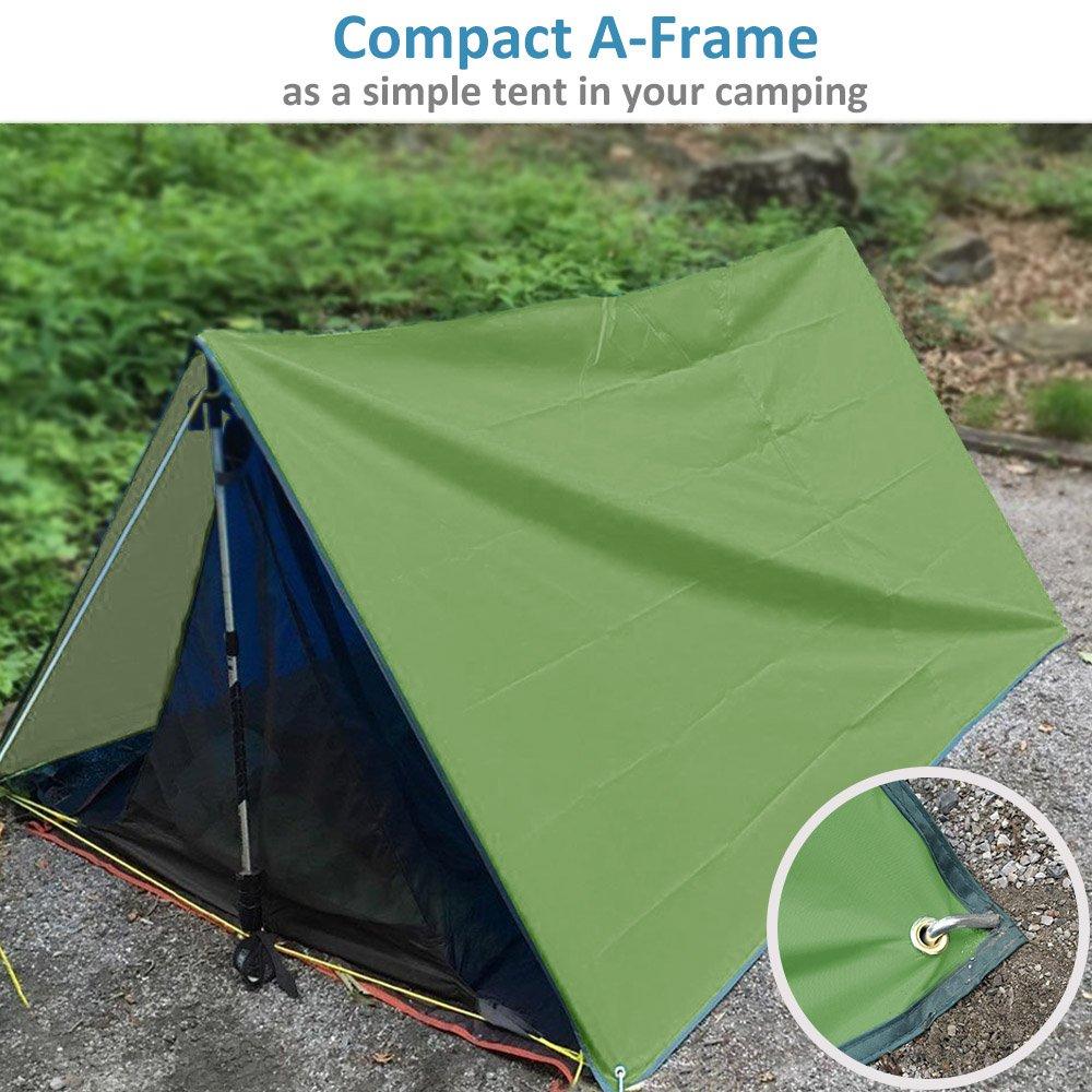 NATUREFUN Toldo de Refugio Impermeable de 3x3m, Portátil, para Camping y Protección contra Todo Tipo de Clima: Amazon.es: Hogar
