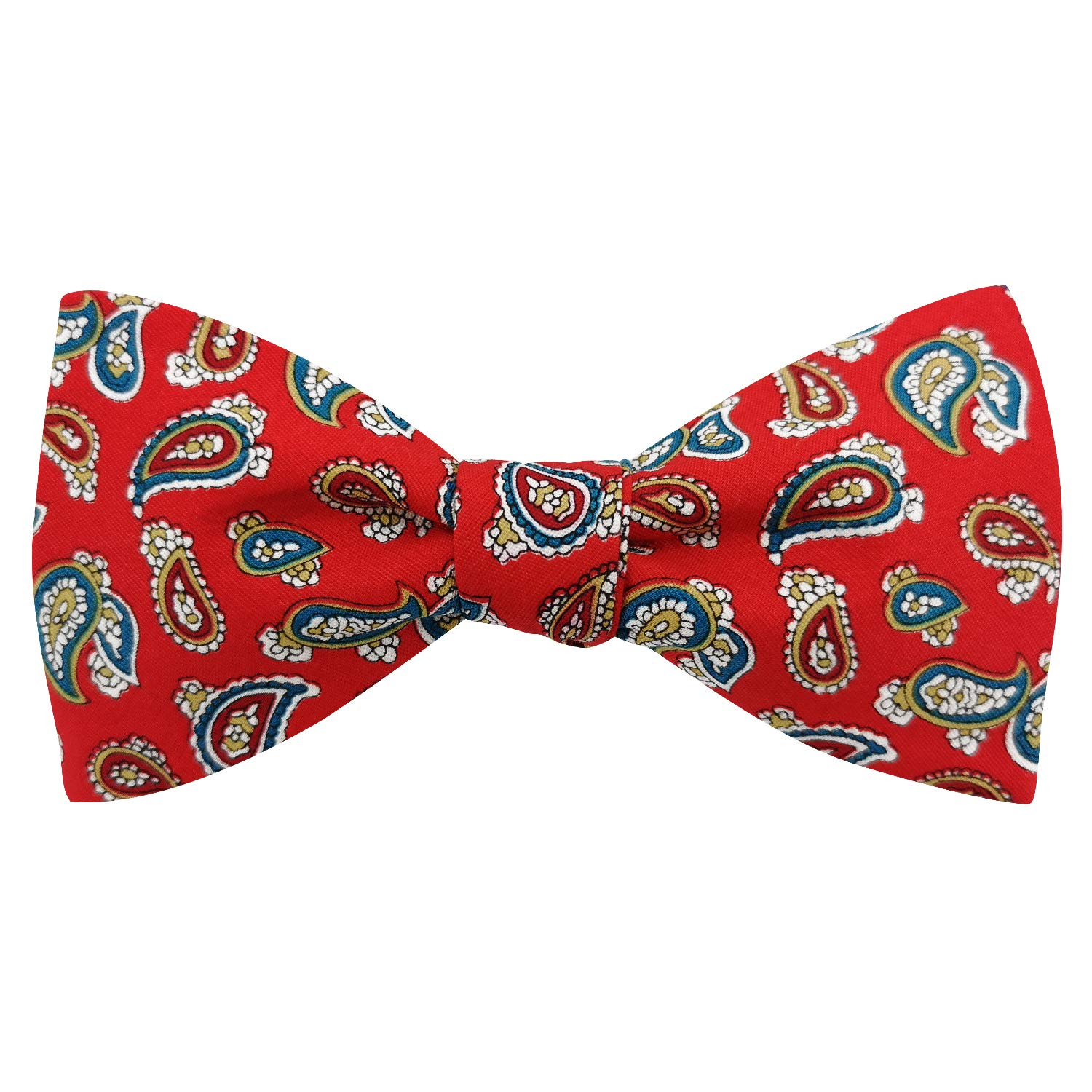 Angelcrab Mens Bowtie Paisley /& Floral Adjustable Cotton Print Bow Ties