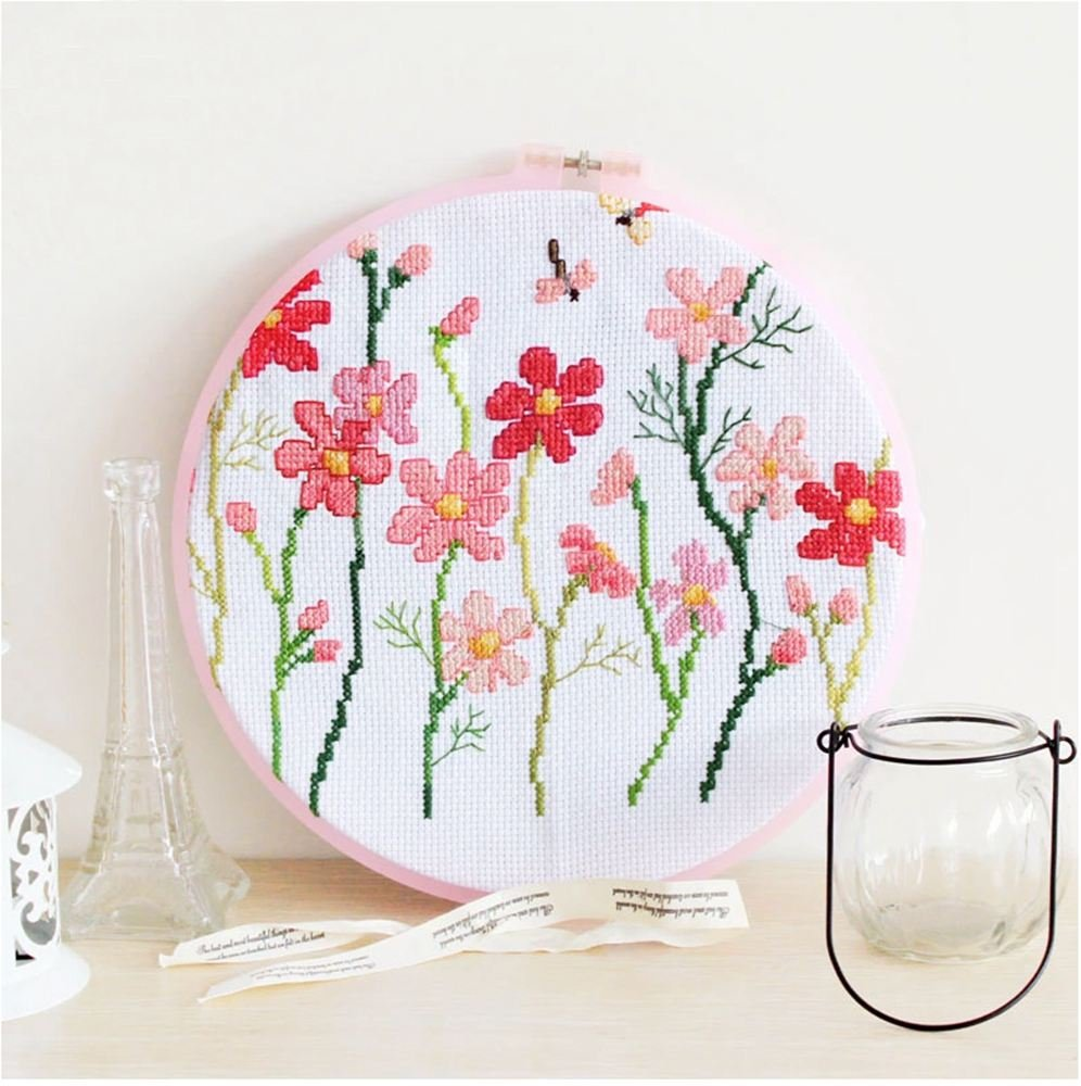 6.5 8 9.4 5 Pieces Plastic Cross Stitch Machine Embroidery Hoop Ring Round Loop Needle Sewing Ring Sizes 11.2 5- Various Colors