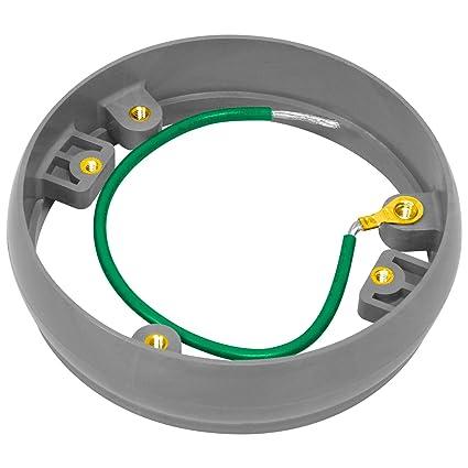 """Enerlites enlc001lr 4,5 """"redondo hebilla nivelación Anillo Adaptador para PVC suelo caja"""