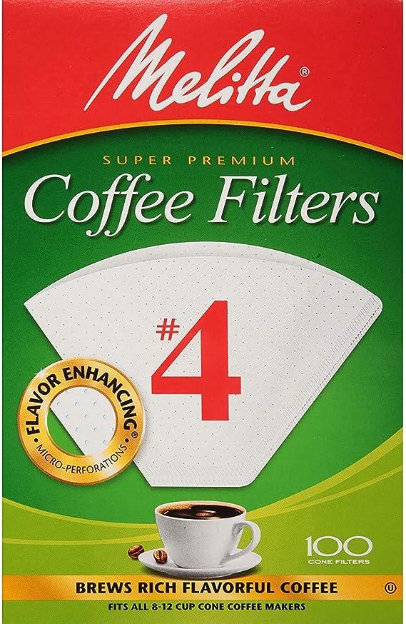 Naturan Brown 4 No Pack of 3 Melitta Super Premium Coffee Filters 100-Count Filters