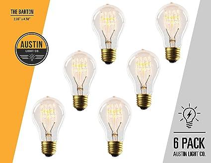 edison light bulb 6 pack the barton 40 watt bulb choose from