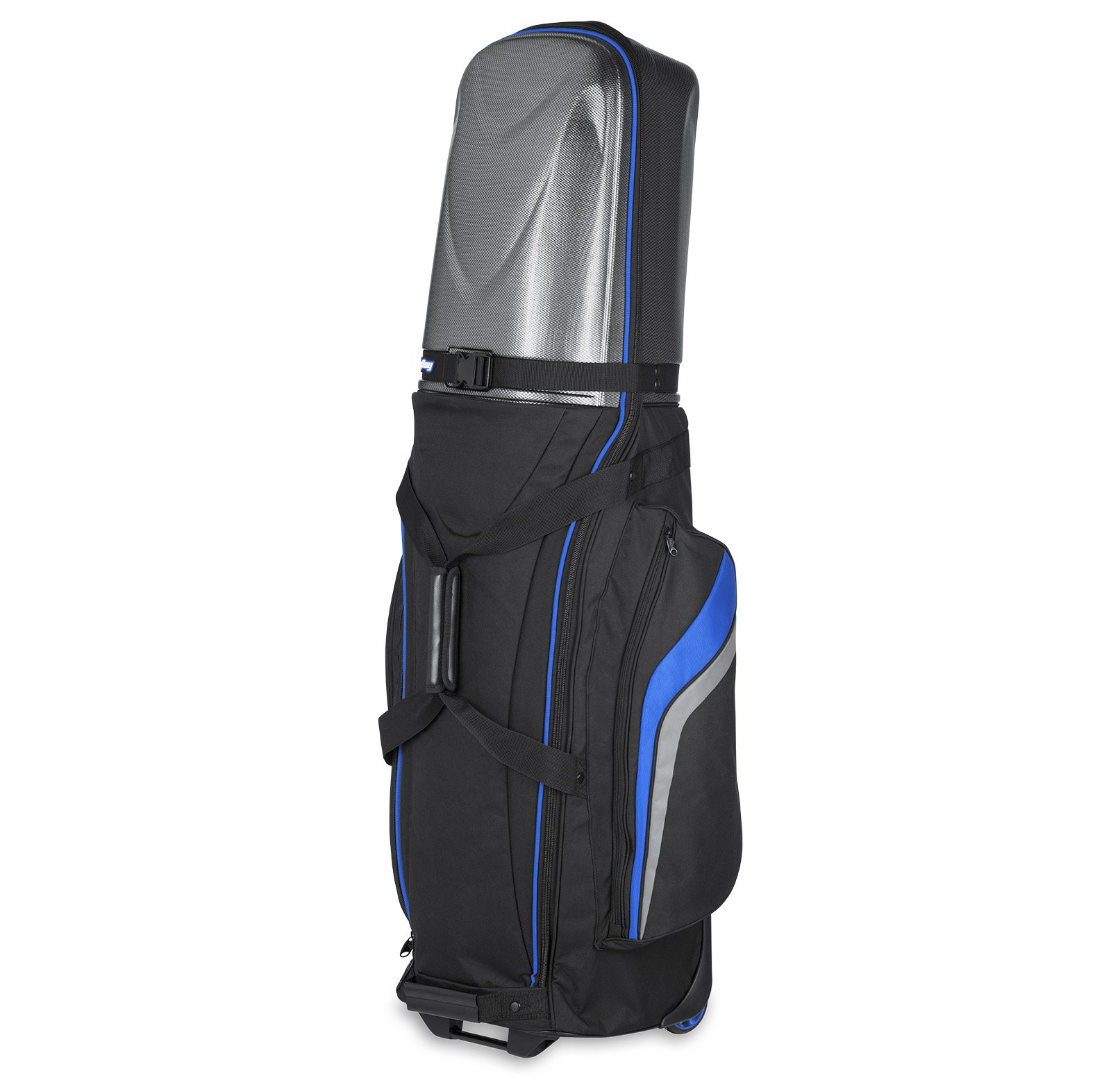 Bag Boy Golf T-10 Hard Top Travel Cover (Black/Royal/Charcoal, ) by Bag Boy