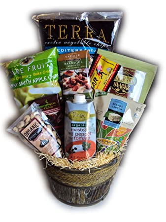 Image Unavailable. Image not available for. Color Menu0027s Health Food Gift Basket  sc 1 st  Amazon.com & Amazon.com : Menu0027s Health Food Gift Basket : Gourmet Snacks And Hors ...
