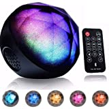 2IN1 LED Bluetooth Speaker,CAMTOA Rechargeable Wireless LED Coloured Changing Ball Speaker with Remote Controller for iPhone,iPad, Support TF Card for Halloween Christmas Party Disco Club Gathering
